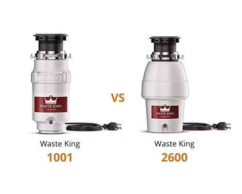 Waste King 1001 vs 2600
