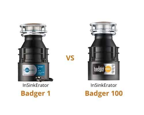 Comparison of InSinkErator Badger 1 and 100 garbage disposals