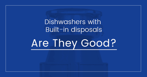Dishwasher with built-in disposal