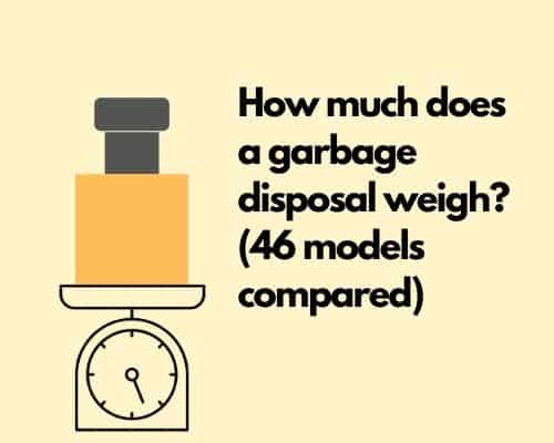 How much does a garbage disposal weigh