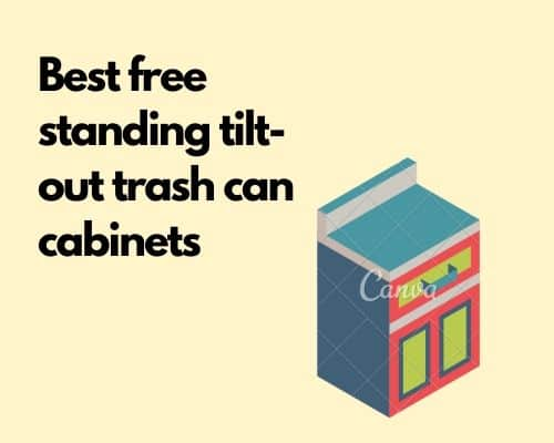 Best tilt out trash can cabinets